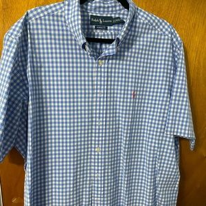 RALPH LAUREN SHORT SLEEVE BUTTON SHIRT
